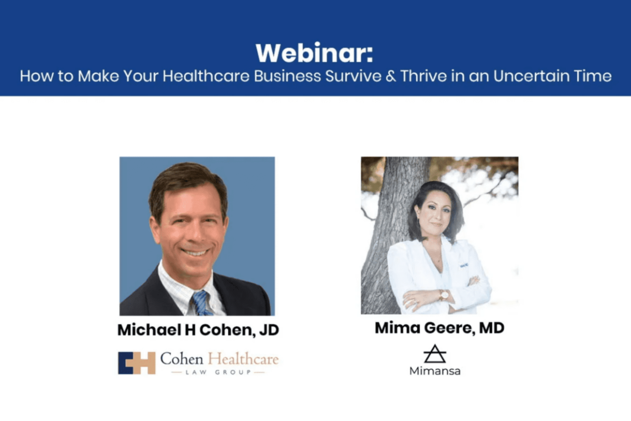 How to Help Your Healthcare Business Survive & Thrive in an Uncertain Time Through Telemedicine